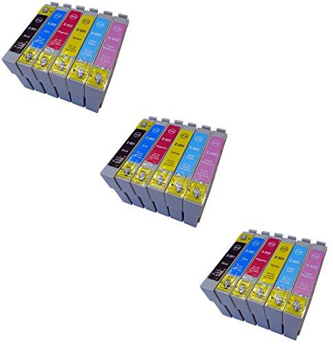 Preisvergleich Produktbild Prestige Cartridge T0801-T0806 18-er Pack Druckerpatronen für Epson Stylus Photo P50, PX650, PX660, PX700W, PX710W, PX720WD, PX800FW, PX810FW, PX820FWD, PX830FWD, R265, R285, R360, RX560, RX580, RX585, RX685, schwarz / cyan / magenta / gelb / hell cyan / hell magenta