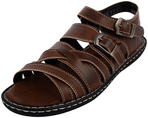 Royal Cruzz Men's Brown Floaters 10 Uk