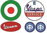 #106 / VESPA Aufkleber Set 5x - Breite je Sticker ca. 6,5cm/3cm Retro Roller Oldtimer GTS 150 300 50 ccm