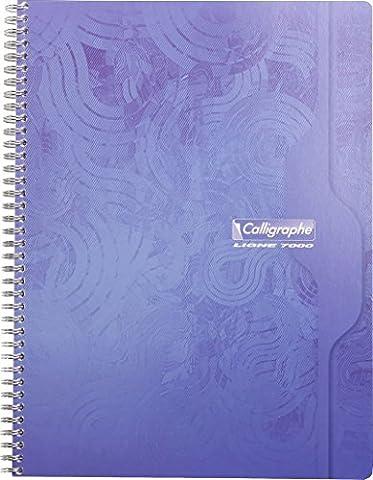Clairefontaine Calligraphe 7000 560C Cahier à spirale 180 pages petits carreaux 70 g 24 x 32 cm Couleur Aléatoire