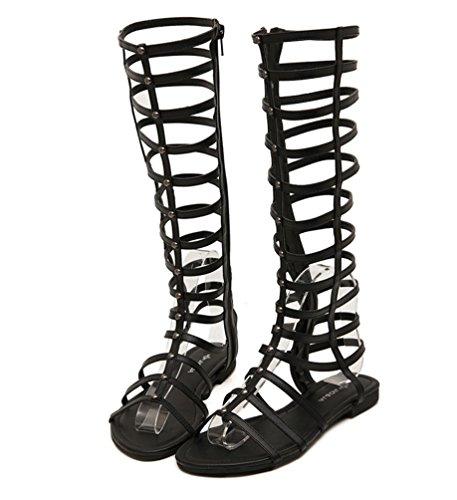 Zoom IMG-3 lvrao donne cerniera sandali gladiatore
