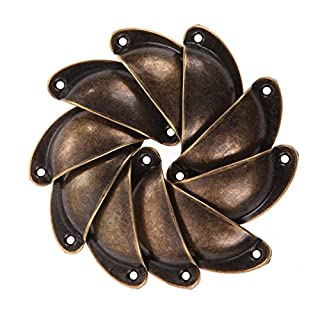 Awakingdemi Drawer Pulls,10pcs Antique Cupboard Cabinet Drawer Pull Door Knob Furniture Shell Handle