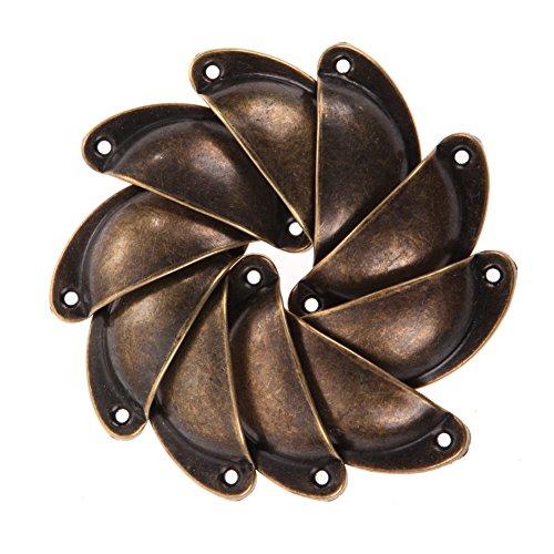 Möbel Schublade Zieht (Demiawaking 10 Antique Schrank Schranktür Knob Schublade Möbel Shell Pull Griff (4))