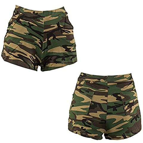 Camouflage Hot Pants Shorts tarnfarben L/XL 42 – 48 Panty Army Look Camo Hotpants Kurze Hose Tarnmuster Party Outfit Military Style