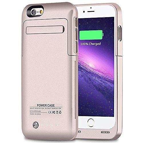 MUZE iPhone 6 Ultra Slim Akku-Cases 3500mAh Akku verlängert Ladekoffer für iPhone 6/iPhone 6s (4,7 Zoll)(Gold) Iphone 6-akku-pack Gold