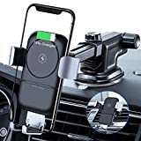 VANMASS Wireless Charger Auto Handyhalterung 10W mit Induktiver Ladestation 2 in 1 Kfz Handy Halterung mit Lüftungs & Saugnapfshalterung für Phone XS/XR/S/8P Samsung S9/S8 und andere Qi Fähige Geräte