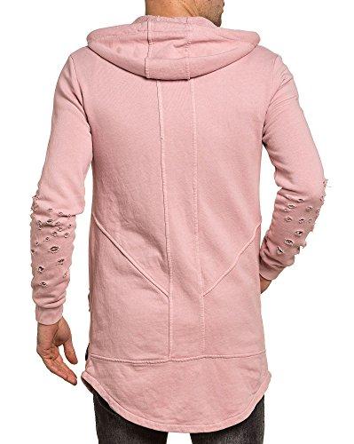 BLZ jeans - Rosa Weste Art und Weise mit Kapuze Mann verschanzt Pink