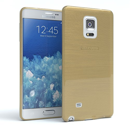 Samsung Galaxy Note Hülle - EAZY CASE Ultra Slim Cover Handyhülle - dünne Schutzhülle aus Silikon in Transparent Brushed Gold