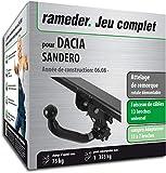 Rameder Attelage rotule démontable pour Dacia SANDERO + Faisceau 13 Broches...
