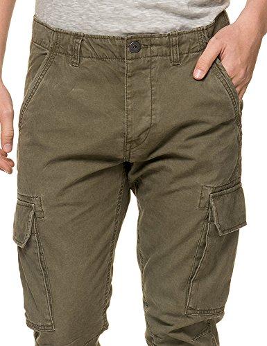 Jack & Jones Men's Cody Gary Men's Olive Cargo Pants 100% Cotton green