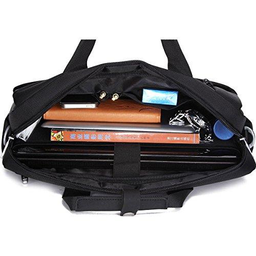 Multifunktionsmänner Beutel-Handtaschen-Schulter-Beutel-Segeltuch-Beutel-Kurier-Beutel-Geschäfts-Aktenkoffer Wasserdicht Black