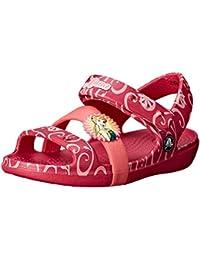 Crocs Keeley Frozen Fever K, Sandales Fille - Rouge (Raspberry), 31 EU