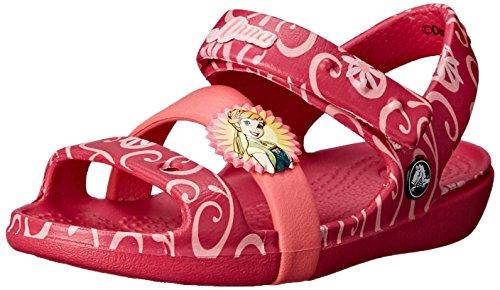 crocsKeeley Frozen Fever K - Sandalias de Punta Descubierta Niñas , color Rojo, talla 28/29
