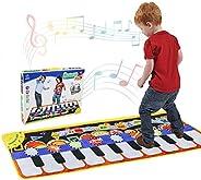 RenFox Alfombra de Piano, Alfombra Musical de Teclado, 5 Modes & 8 Sounds Touch Juego Musical para niños R