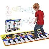 Alfombra de Piano, Alfombra Musical de Teclado T¡§¡éctil, 5 Modes & 8 Sounds Touch Juego Musical para Ni?os Beb¡§| Regalo(110 * 36 cm)