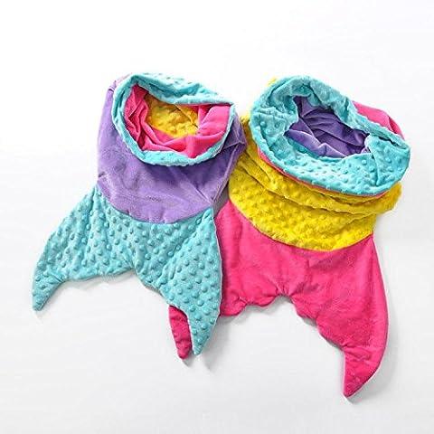 DDHD Animale domestico sirena coperte coda di sirena coperta Baby doppio lavoro a maglia coperta fishtail , purple