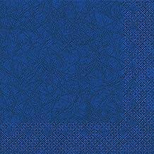 20 servilletas 33 x 33 cm azul oscuro 3 capas, almuerzos servilletas, servilletas Modern