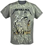 Metallica ... And Justice For All - Neon Backdrop Camiseta Gris marengo L