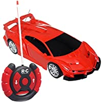Amazemarket 19cm Random Color Baby Kids 1:24 Scale Supercar Car Model Radio Remote Control 2 Channels RC Toy Indoor Outdoor Playmate Gift Electronic Device Hand-eye Coordination (ransom color) - Compare prices on radiocontrollers.eu