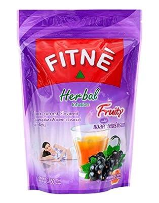 Nouvelle Fitnè Herbal Infusion - Tisane de Feuilles et Gousses de Séné Arôme de Myrtille - 37.5 g. (15 Sachets)