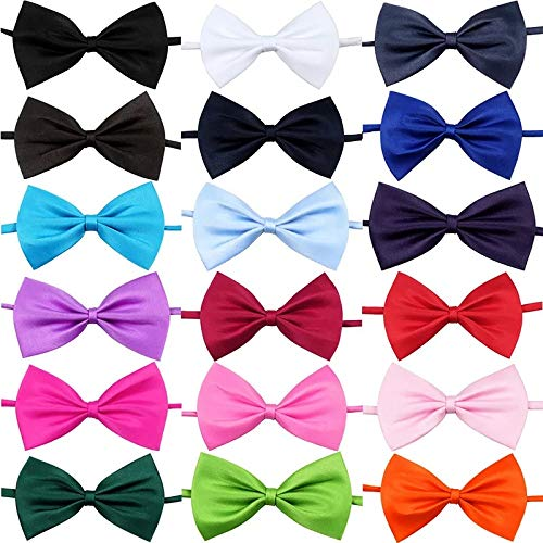 Stephanie Dog Accessories - pcs/Lot Mix Colors pet cat Dog Bow tie Grooming Products Fashion Rabbit Puppy Adjustable Bowtie Accessories - by 1 PCs