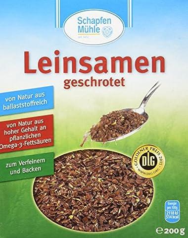 Schapfen Mühle Leinsamen, 11er Pack (11 x 200 g) (Leinsamen Geschrotet)