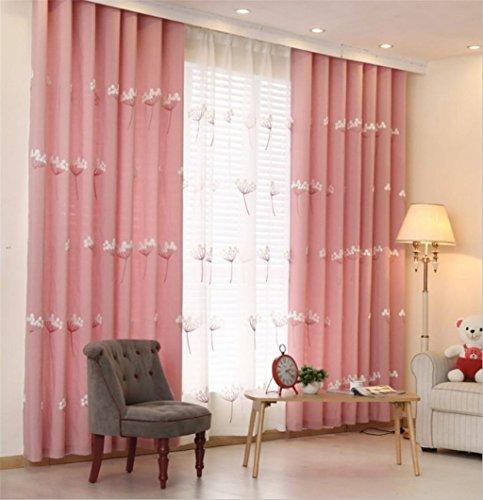 GYMNLJY Gardinen Baumwolle und Leinen Blackout Handstickerei drapieren Feste Thermoplatten für Schlafzimmer Home Decor Fenster drapiert 1.5 * 2.7m (1 Platten), 2