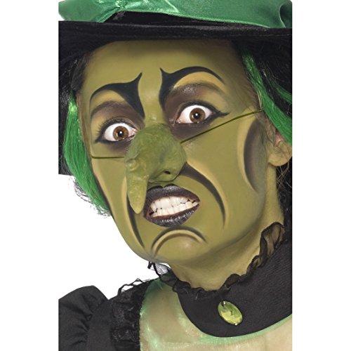 Hexenschminke Hexen Make Up mit Nase Hexe Schminkset Halloween Makeup Märchen Zauberin Schminke Karneval Schmink Set Accessoires Halloweenkostüme - Für Zauberin Make-up Halloween