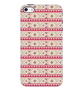 PrintDhaba Pattern D-5212 Back Case Cover for APPLE IPHONE 4S (Multi-Coloured)