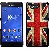 Graphic4You Bandera de Reino Unido Inglaterra Gran Bretaña Union Jack Británica Carcasa Funda Rigida para Sony Xperia Z3 Compact
