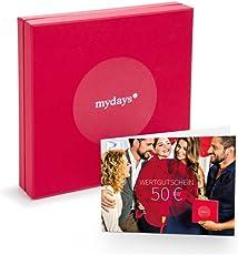 mydays   GUTSCHEIN 50 EURO   Auswahl aus über 14.000 Erlebnissen   Mit Geschenkbox im Wert von 6,90