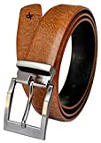 Discover Fashion Men's Leather Brown Bel...