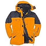 3in1 Jacke Davos in Übergröße gelb, Größe:3XL