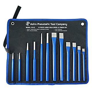 Astro Pneumatic Tool 1612 Large Cold Chisel & Punch Set, 12 Piece