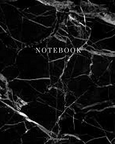 Notebook - Marble Black Cover: (8 x 10) Writing Journal, 100 Pages, Smooth Matte Cover (Planner Spade Kate)