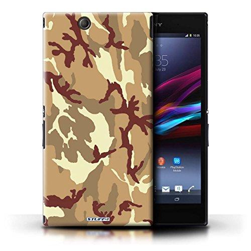 Kobalt® Imprimé Etui / Coque pour Sony Xperia Z Ultra / Rose 4 conception / Série Armée/Camouflage Marron 4