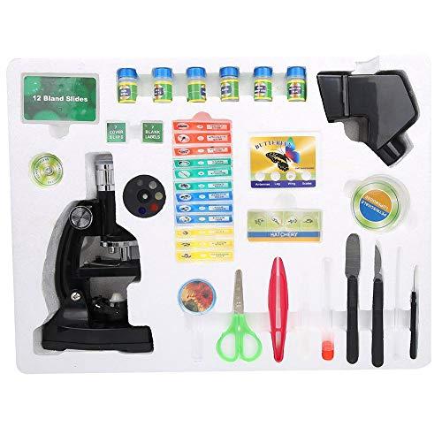 Zer one Biologisches Mikroskop für Kinder, Biologisches Mikroskop für Kinderschüler 1200X mit Projektor PTL-1200 Advanced Science Set Kit