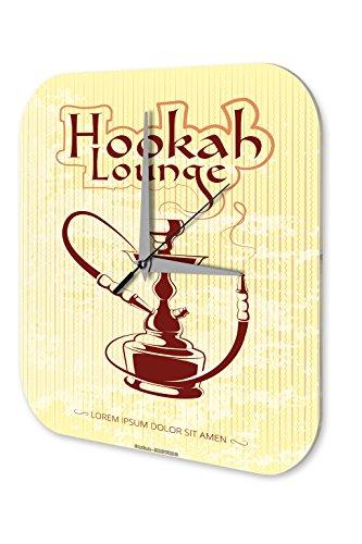 LEotiE SINCE 2004 Wanduhr Küchen Deko Shisha Lounge Acryl Uhr Vintage Nostalgie