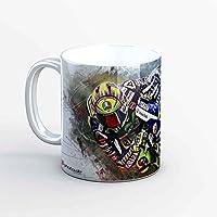 GP-Tasse 02 – Valentino Rossi Barcelona Hang Off (Weiß)