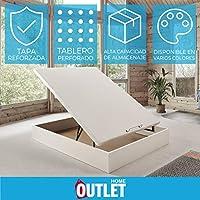 Canapé abatible Wood de Home Medida 135x190 cm Color Blanco