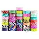 UOOOM 10 Rolls Beautiful Washi Tape Masking Tape deko klebeband buntes Klebebänder DIY scrapbook deko (Pattern-1)