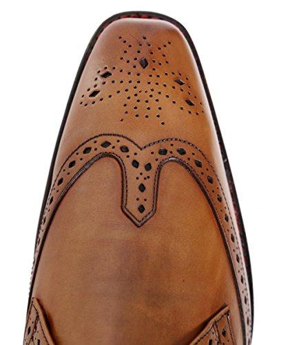 Jeffery-West Hommes Lab Dexter bottes en cuir Acajou Acajou