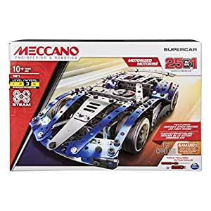 Meccano 6044495 25 Model Set Super Car, Mixed Colours