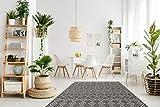 One Couture Muster BEIGE TEPPICHE Outdoor AZTEKEN Design Teppich Elfenbein, Größe:80cm x 150cm