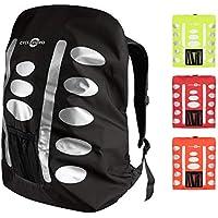 Regenschutz Rucksack (verschiedene Größen/Farben) Rucksack Regenschutz mit reflektierenden Elementen und Extra-Tasche - Wasserdichtes Regen Cover für viele Rucksack Größen (15L, 25L, 35L, 45L, 55L)