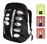 Regenschutz Rucksack (schwarz, 40-55L) Rucksack Überzug mit reflektierenden Elementen und...