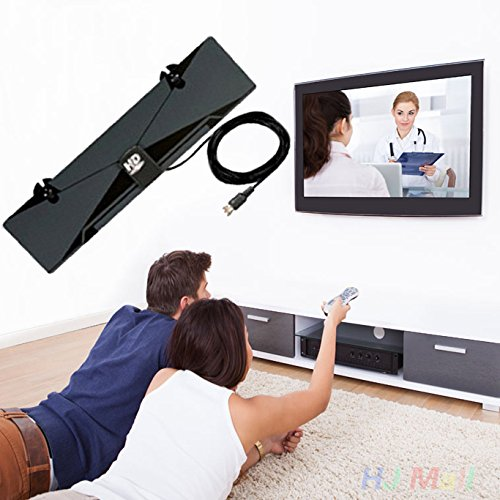 Hanbaili TV-Antenne, (US-Stecker) HD Digital Indoor Antenne flaches Design Ultra Thin 1080p HDTV TV-Antenne (Digital-hd-verstärkt-antenne)