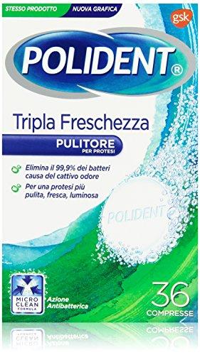 Polident - Pulitore per Protesi, Tripla Freschezza, 36 Compresse