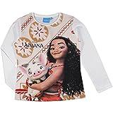 Disney Vaiana - Maglia Maglietta T-shirt a Maniche Lunghe Cotone Leggero - Full Print - Autunno/Inverno - 1259XX [Rosa - 122 cm - 6/7 anni]
