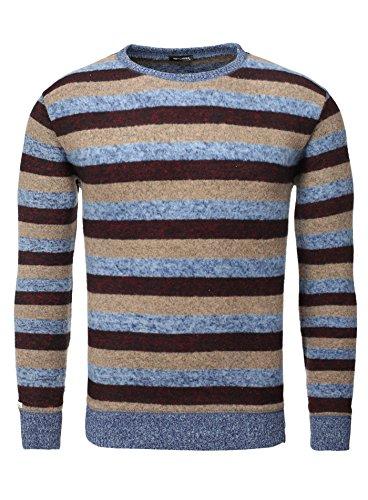 Key Largo Herren Pullover DEPOT Streifen Gestreift Moderner Look Blau Rot